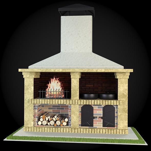3DOcean Garden Fireplace 012 6609295