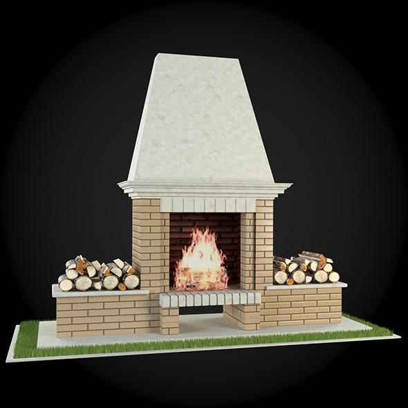 Garden Fireplace 013 - 3DOcean Item for Sale