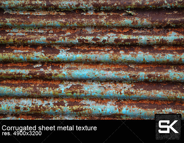 GraphicRiver Corrugated Sheet Metal 6609636