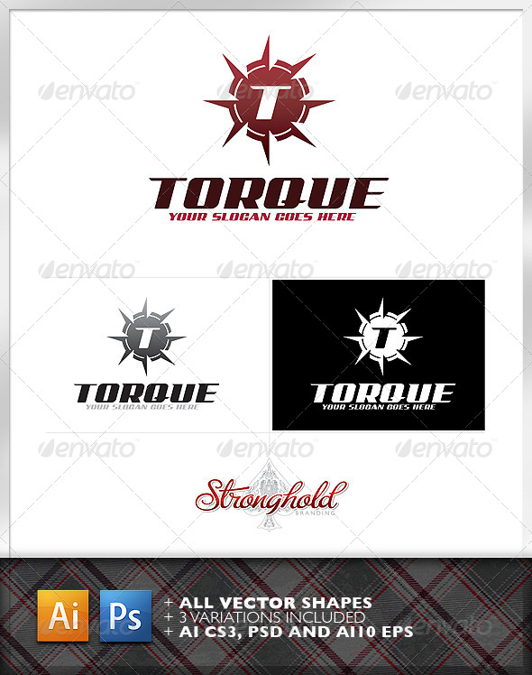 GraphicRiver Torque Shield Logo Template 6605357