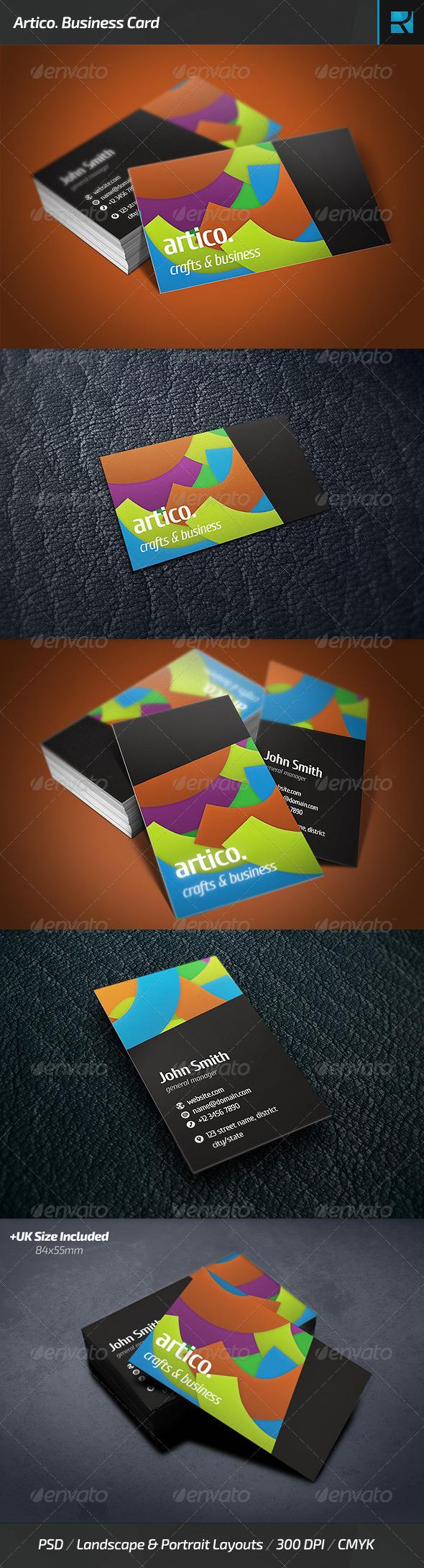 GraphicRiver Artico Business Card 6609720