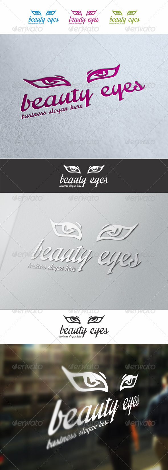 Beautiful Eyes Logo - Humans Logo Templates