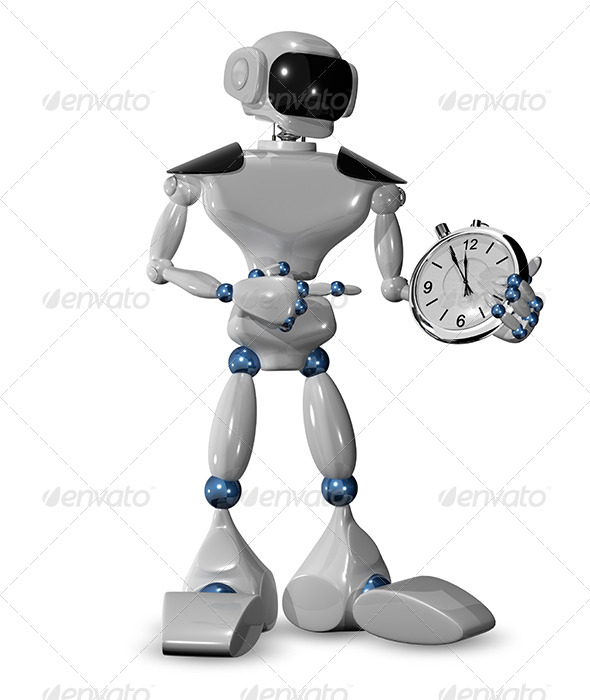 GraphicRiver Robot and a Watch 6609999
