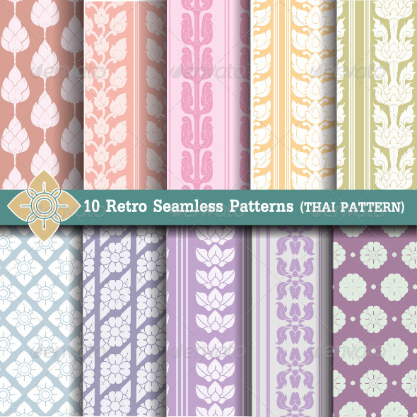 GraphicRiver 10 Retro Seamless Patterns 6610060