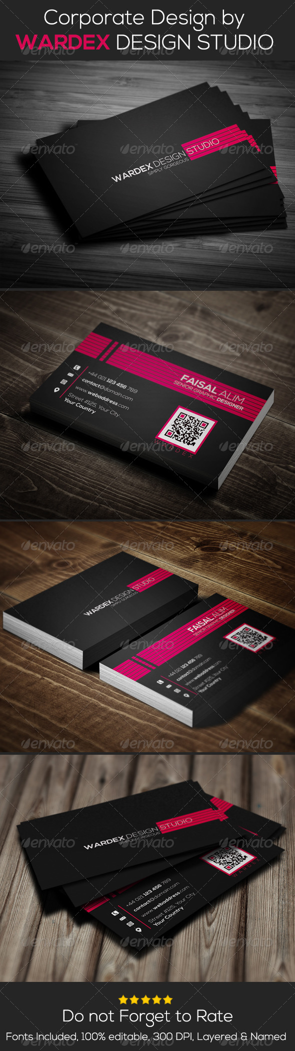 GraphicRiver Corporate Business Card Design 6610136