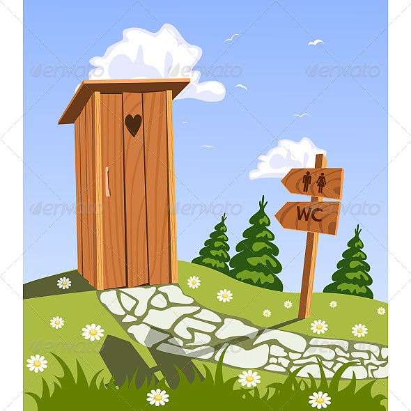 GraphicRiver Toilet in Nature 6610144