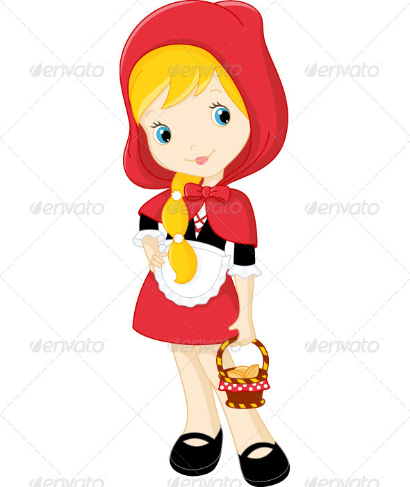 Cartoon Characters Hood Version : Little red riding hood graphicriver