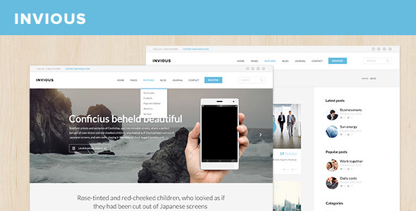 INVIOUS Corporate PSD Template