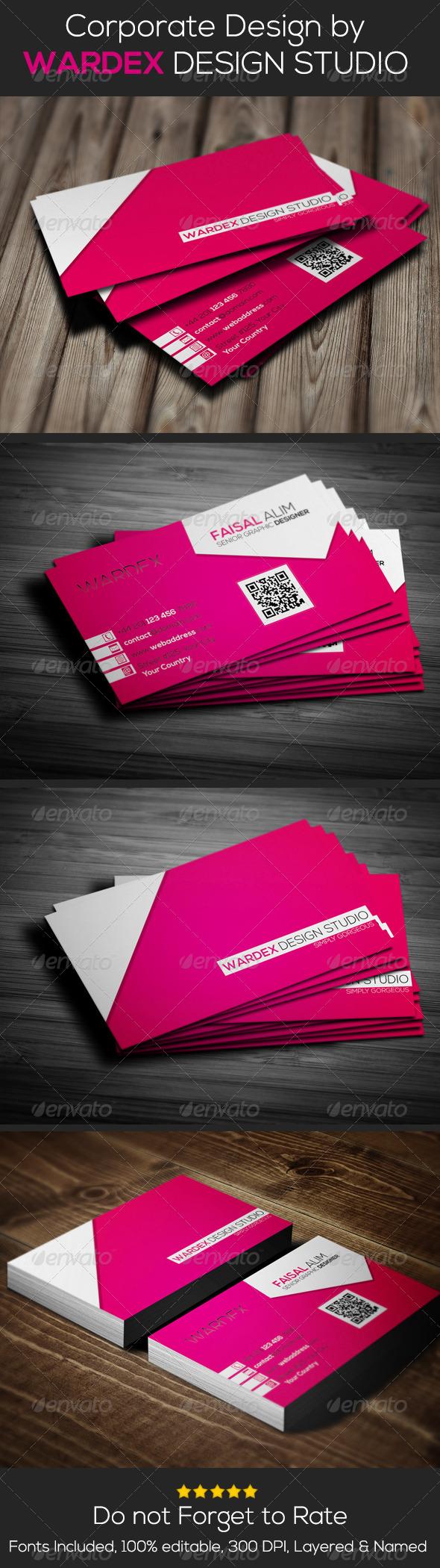 GraphicRiver Corporate Business Card Design 6610292