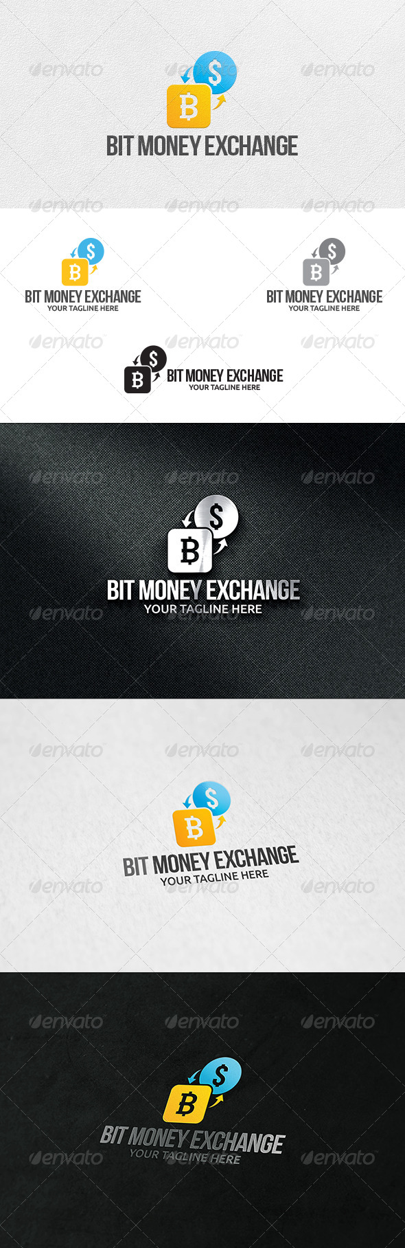Bit Money Exchange - Logo Template
