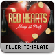 Red Hearts Flyer Template - GraphicRiver Item for Sale