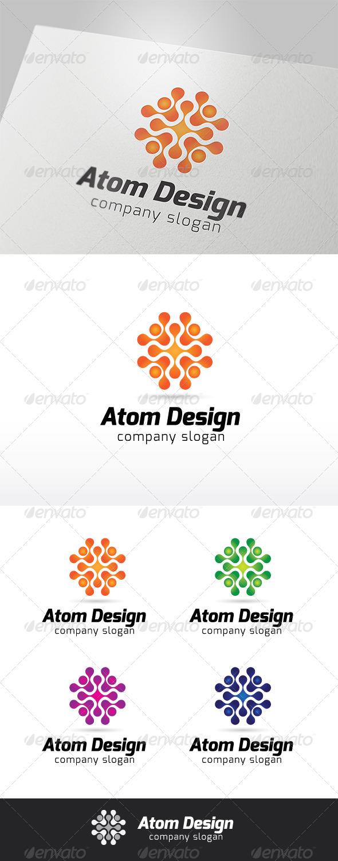 GraphicRiver Atom Design Logo 6610467
