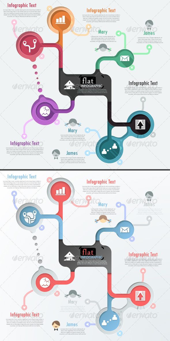 GraphicRiver Flat Infographic Banner Two Versions 6610542