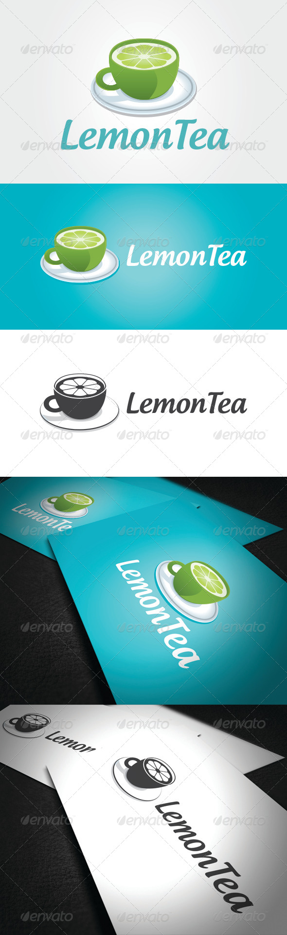 Lemon Tea Logo Template - Vector Abstract