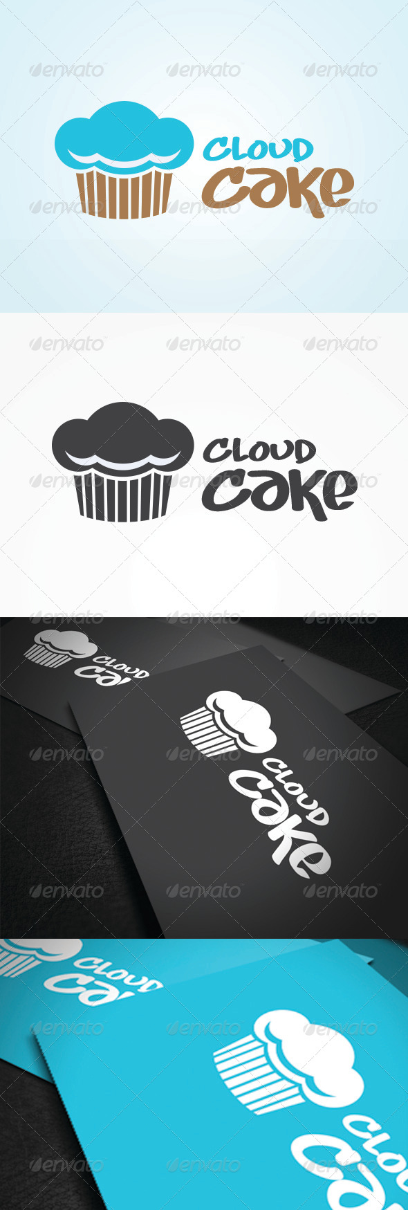 Cloud Cake Logo Template - Vector Abstract