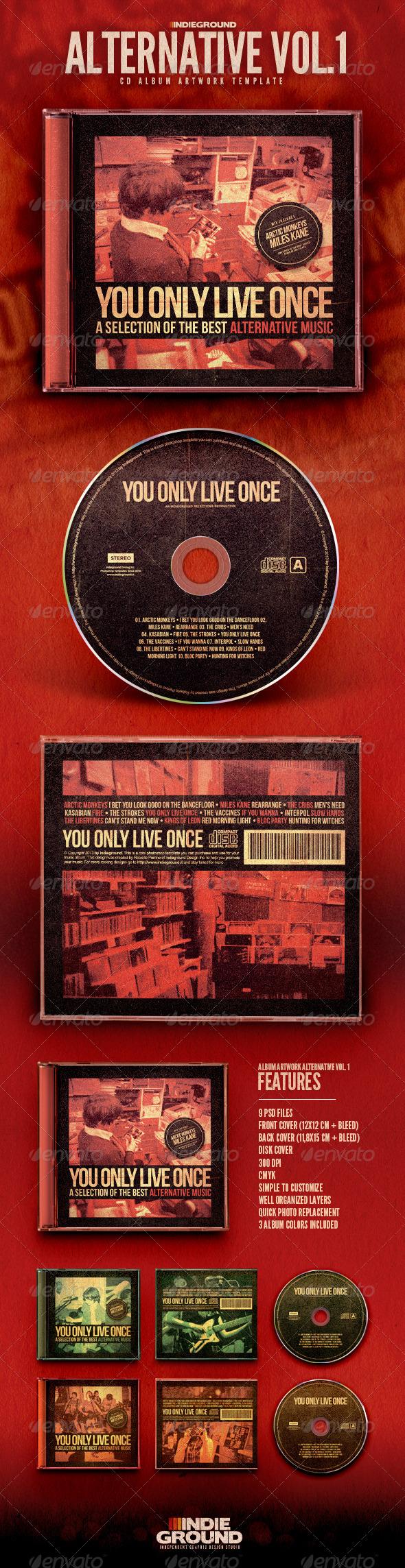 GraphicRiver Alternative CD Album Artwork 6610882