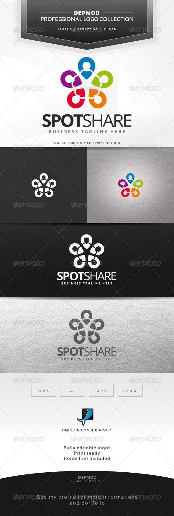 GraphicRiver Spot Share Logo 6610941