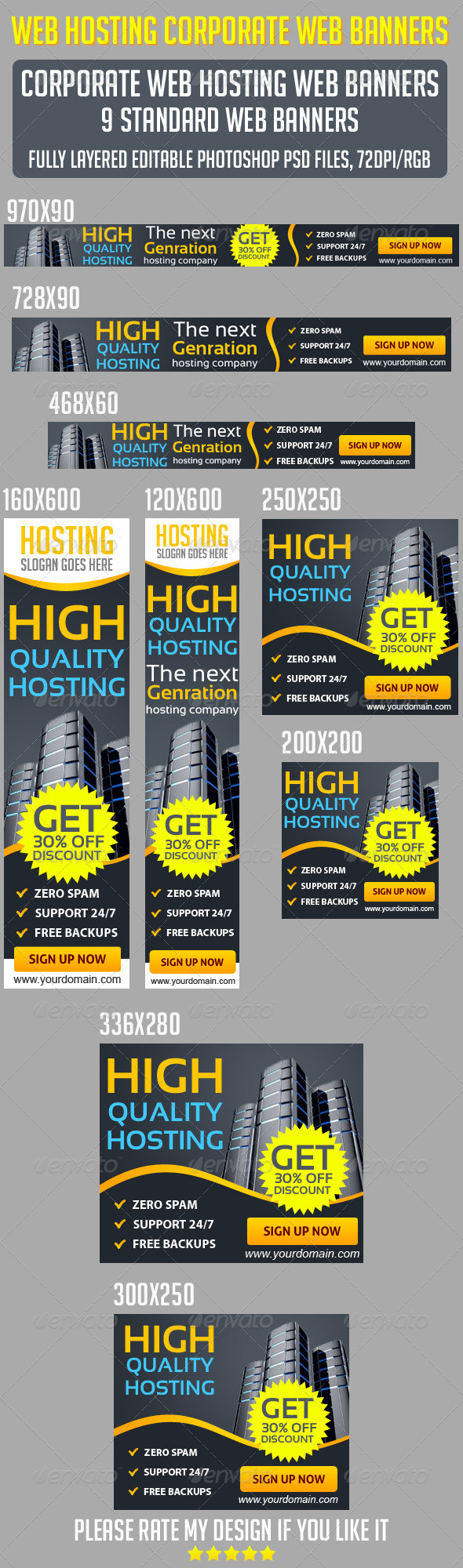 GraphicRiver Web Hosting Banners 6610973