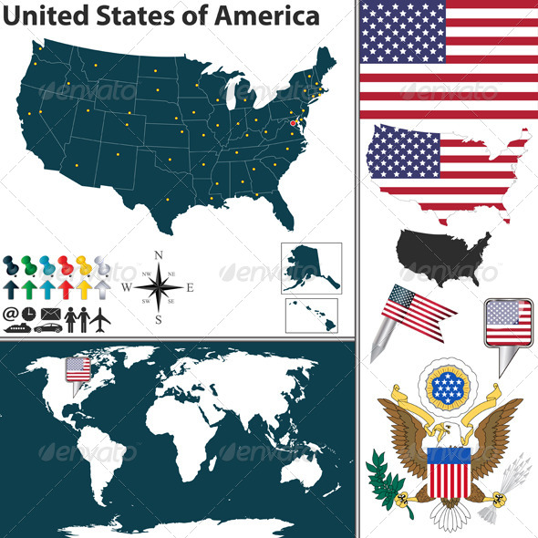 GraphicRiver Map of United States of America 6610978