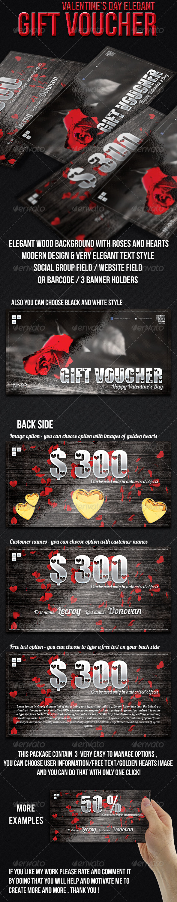 GraphicRiver Valentine s Day Gift Voucher 6611092