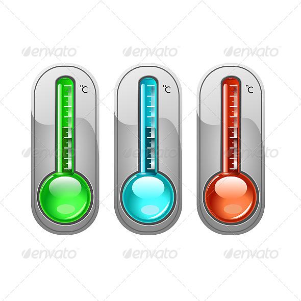 GraphicRiver Three Color Thermometer Vector 6611201