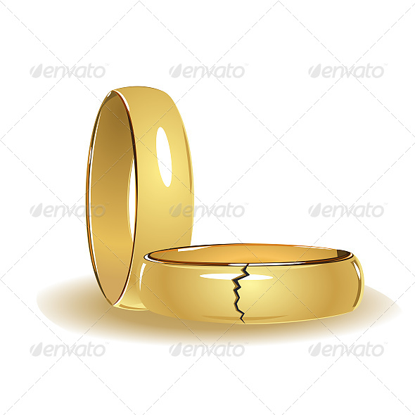 GraphicRiver Broken Wedding Rings 6611354