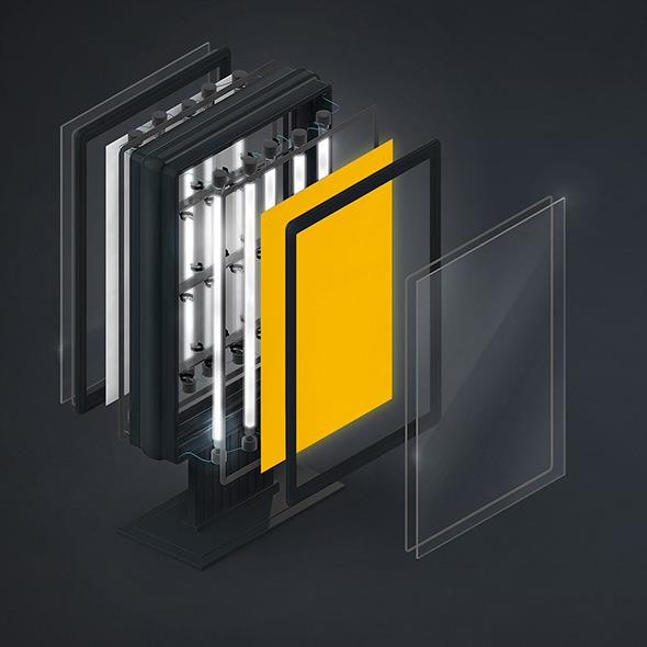 3DOcean Demounted vertical billboard C4D 6611581