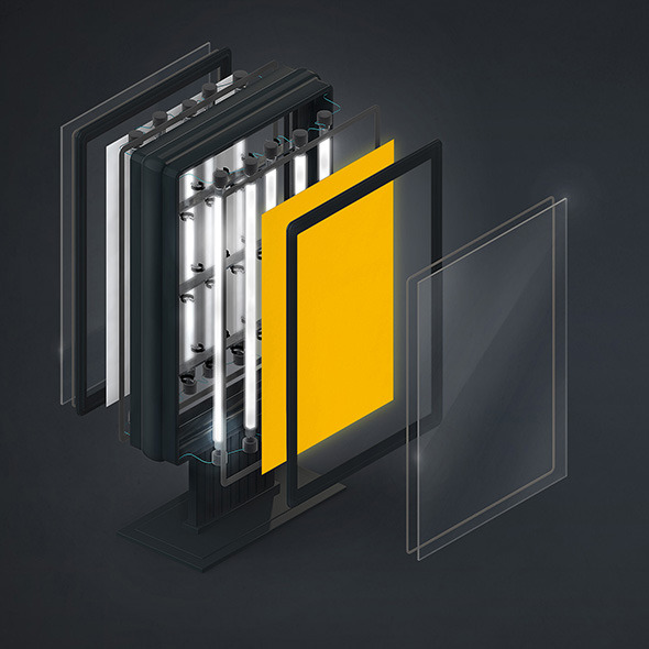 Demounted vertical billboard. C4D - 3DOcean Item for Sale