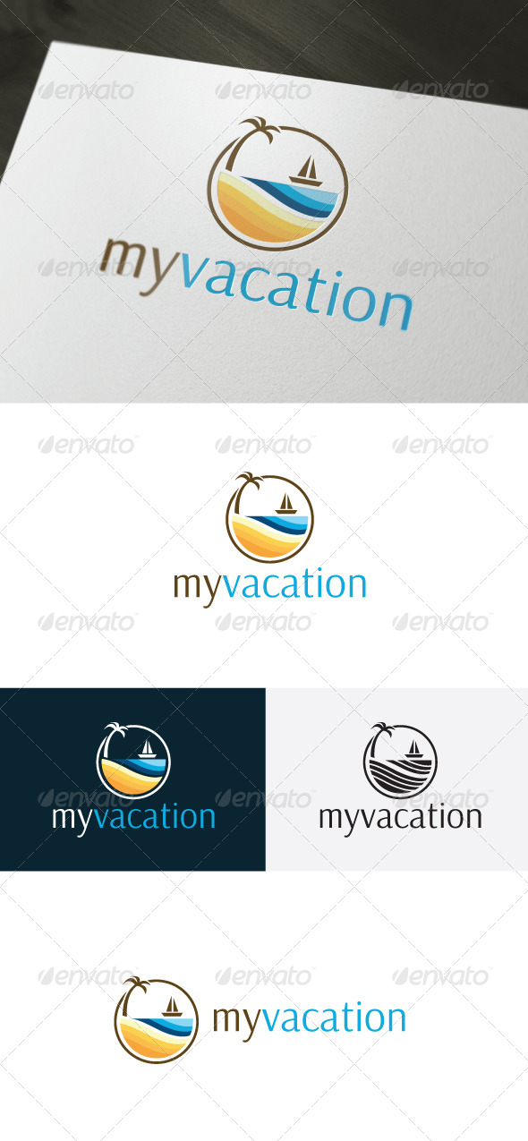 GraphicRiver My Vacation Logo Holiday 6611600