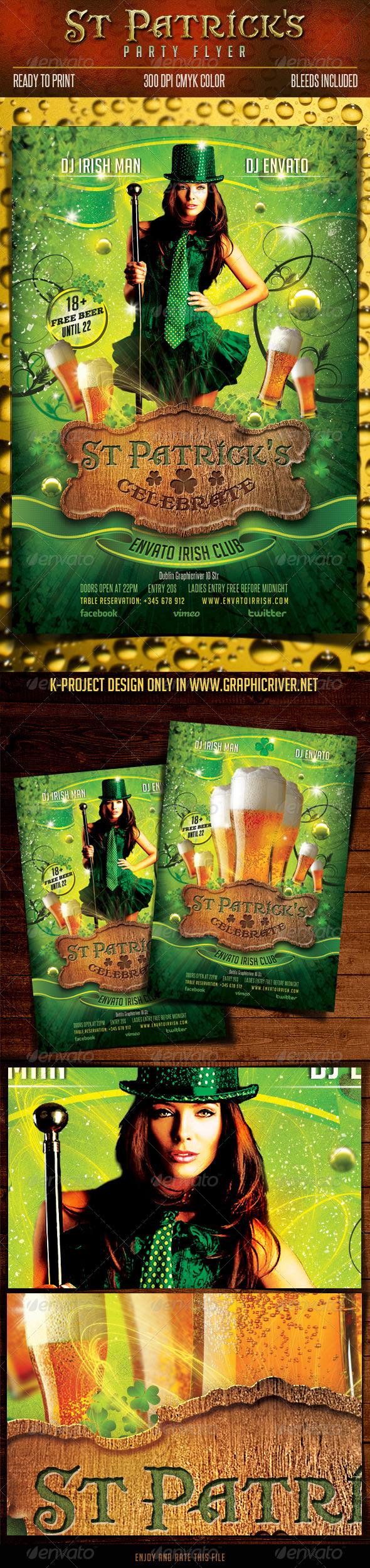 GraphicRiver Saint Patrick Party Flyer 6611830