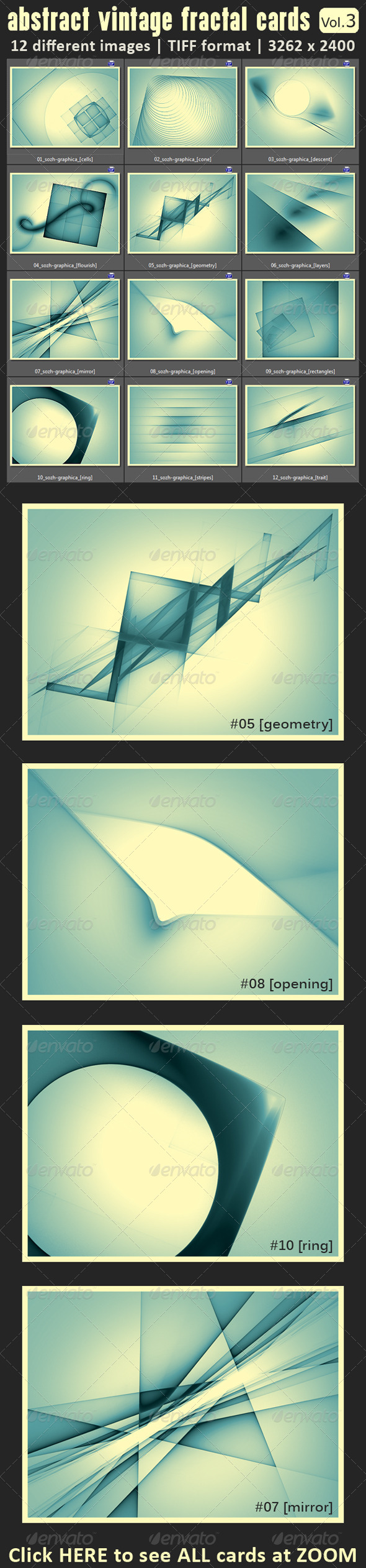 GraphicRiver 12 Abstract Fractal Vintage Cards 6612327
