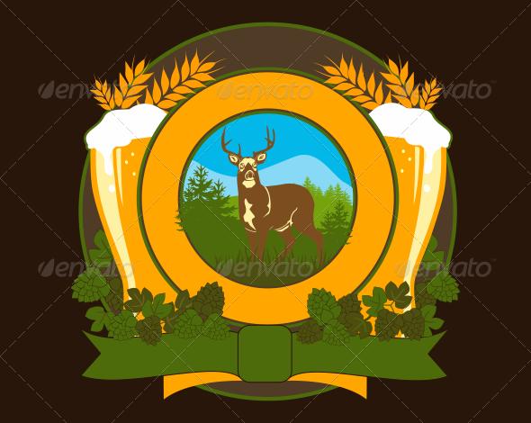 GraphicRiver Beer Illustration Emblem 3545072