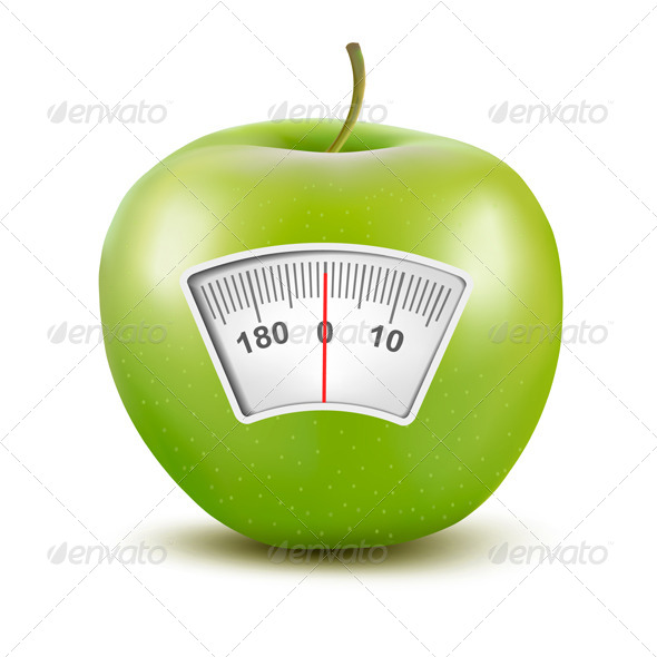 GraphicRiver Apple with a Weight Scale Diet Concept 6612537