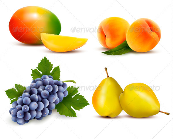 GraphicRiver Big Group of Different Fruit 6612541