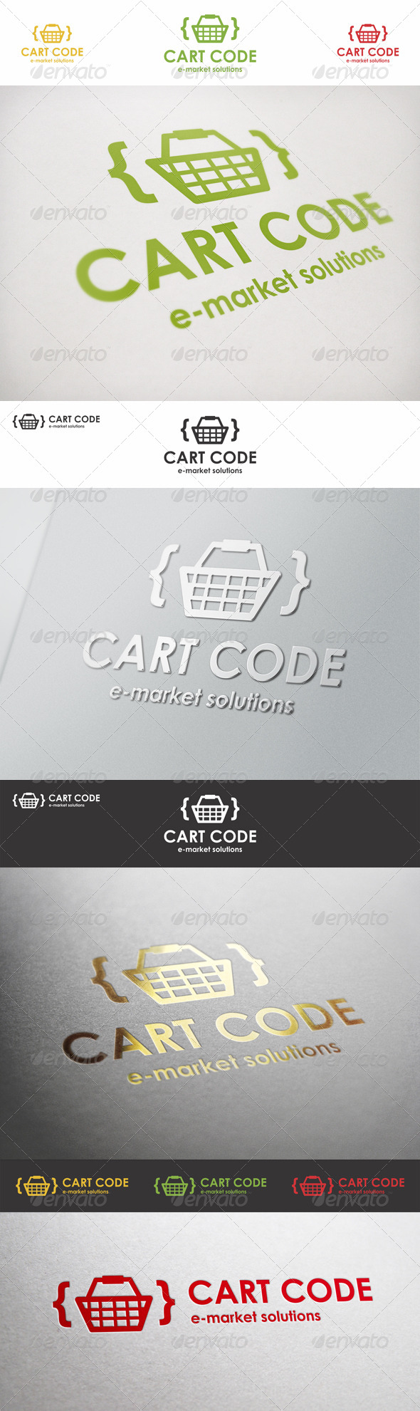 Cart Code E-Market Logo - Vector Abstract