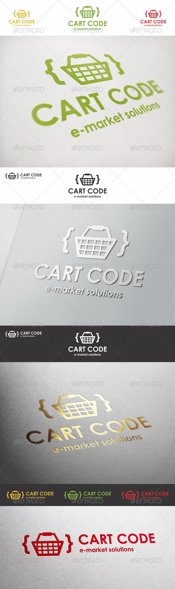 GraphicRiver Cart Code E-Market Logo 6612554