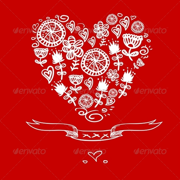 GraphicRiver Cartoon Hearts Background 6612567