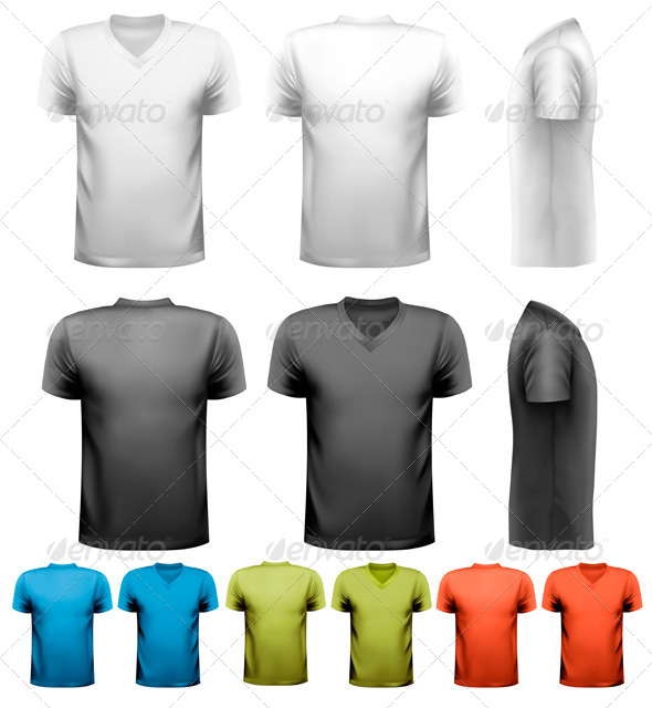 GraphicRiver Colorful Male T-Shirts 6612633