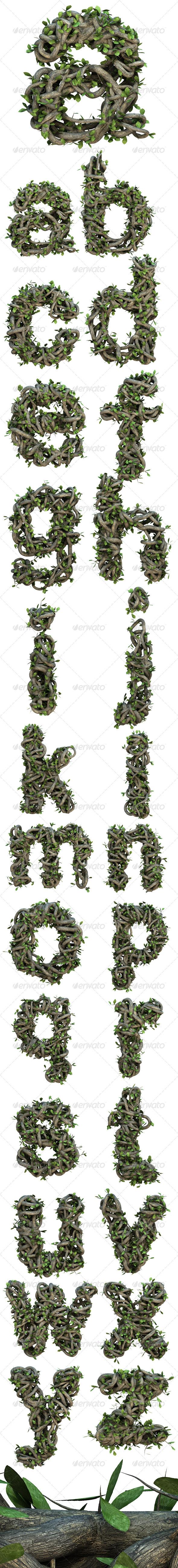 GraphicRiver Ivy Lowercase Alphabet 6612821