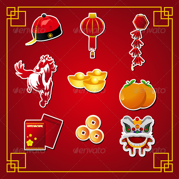 GraphicRiver Chinese New Year Icons 6612959