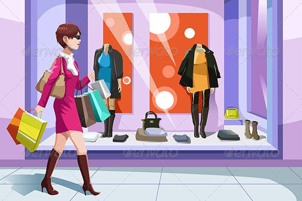 GraphicRiver Shopaholic Girl 6613071