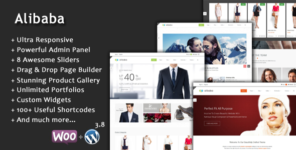 Alibaba Multi Purpose Responsive E-Commerce Theme