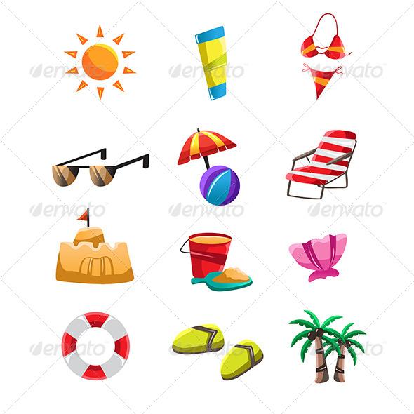 GraphicRiver Beach Icons 6613239