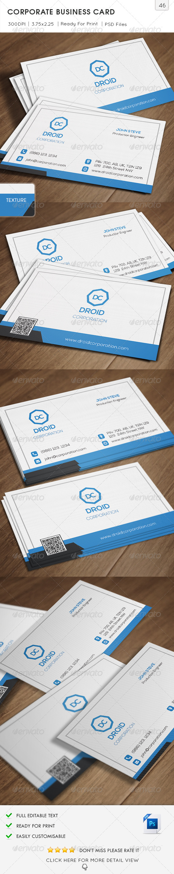 GraphicRiver Corporation Business Card v46 6613489