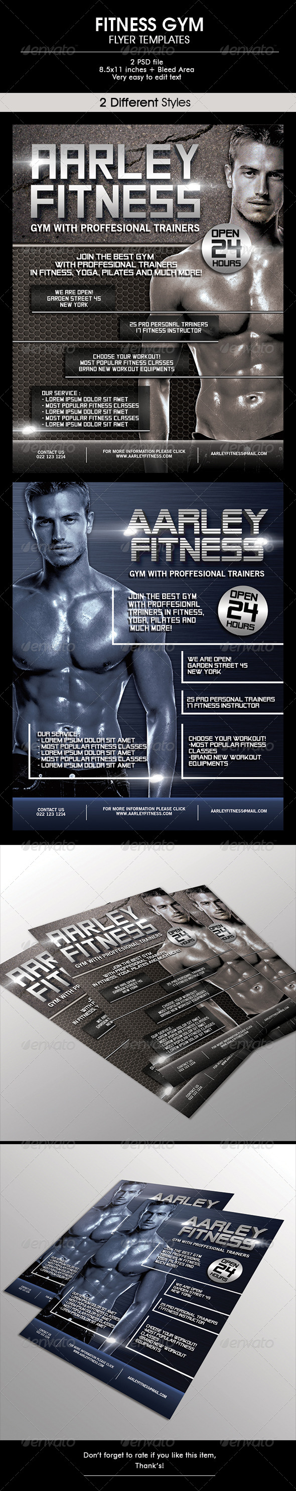 GraphicRiver Fitness Gym Flyer 6613503