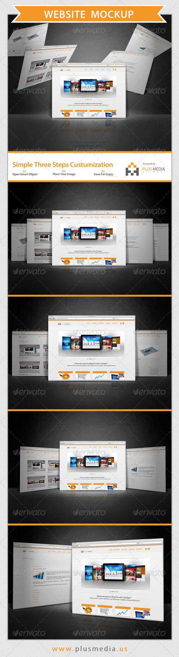 GraphicRiver Website Mockup 6613506