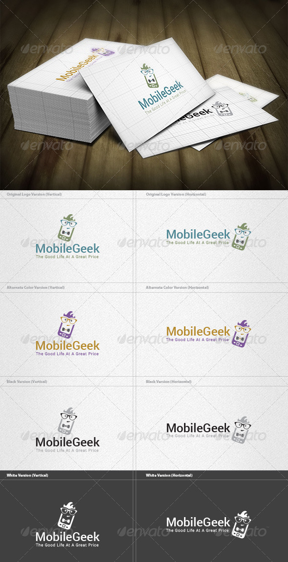 GraphicRiver Mobile Geek Logo 6614087