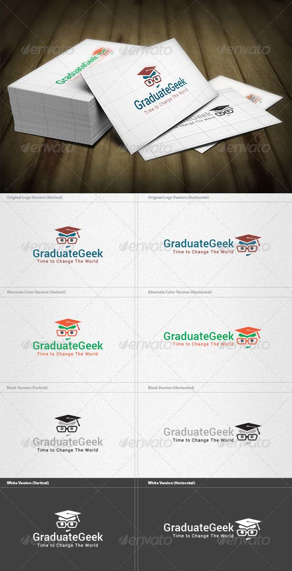 GraphicRiver Graduate Geek Logo 6614133