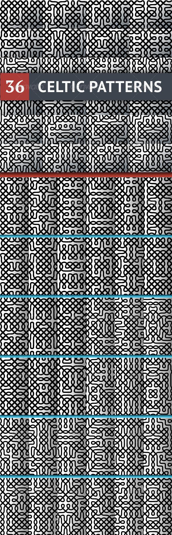 GraphicRiver Celtic Patterns Set 6614515