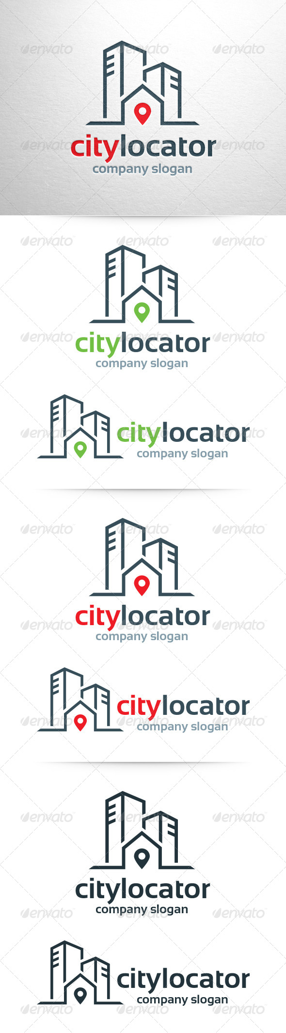 GraphicRiver City Locator Logo Template 6614567